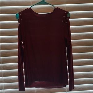 Don't Ask Why AEO soft cold shoulder shirt